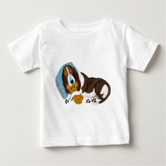 Basset Asleep With Teddy Baby T-Shirt