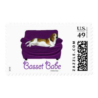 Basset Babe Postage Stamp