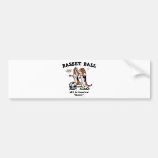 Basset Ball Bumper Sticker