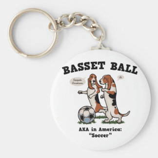Basset Ball Keychain