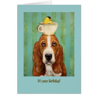 Basset birthday card