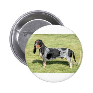 Basset Bleu de Gascogne Dog Pinback Button