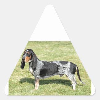 Basset Bleu de Gascogne Dog Triangle Sticker