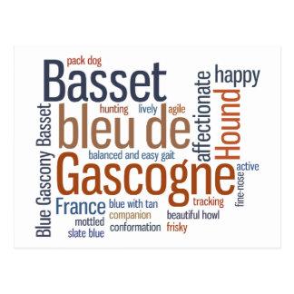 Basset bleu de Gascogne Postcard
