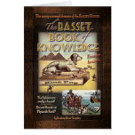Basset Book of Knowledge Greeting Cards