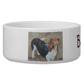 """""""Basset bowl"""" dog bowl"""