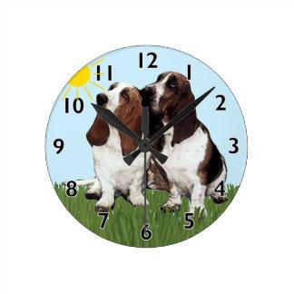 Basset Buddies Clock