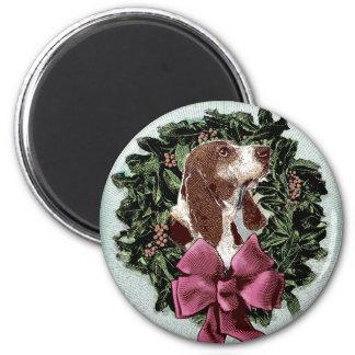 Basset Christmas magnet