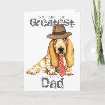 Basset Dad Card
