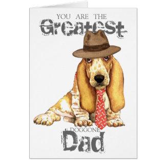 Basset Dad Greeting Card