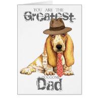 Basset Dad Greeting Cards