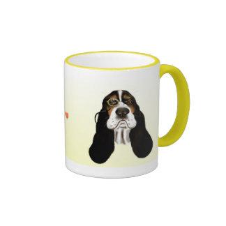 Basset Face and Monocle  Mug