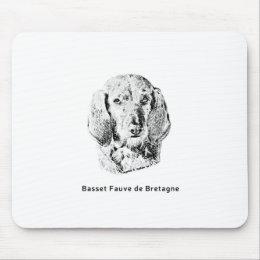 Basset Fauve de Bretagne Drawing Mouse Pad