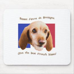 Basset Fauve deBretagne Give Best French Kisses Mouse Pad