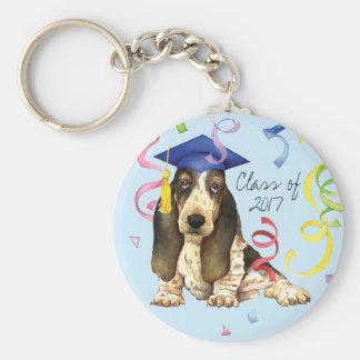 Basset Graduate Keychain