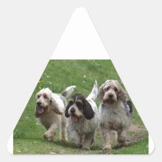 Basset Griffon Vendéen, Grand Dog Triangle Sticker