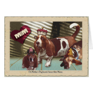 Basset Happy Mother's Day Card
