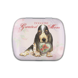 Basset Heart Mom Jelly Belly Tin