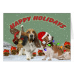 Basset Ho Ho Ho Christmas Cards