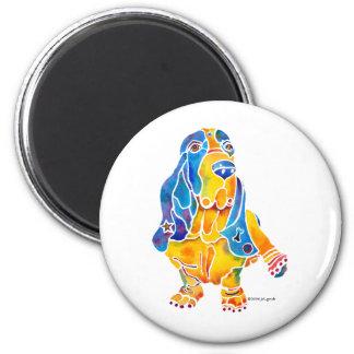 Basset Hound 2 Inch Round Magnet