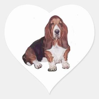 Basset Hound (A) Heart Sticker