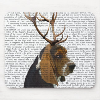 Basset Hound and Antlers Mouse Pad