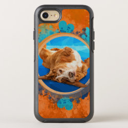Basset Hound and hearts OtterBox Symmetry iPhone 8/7 Case