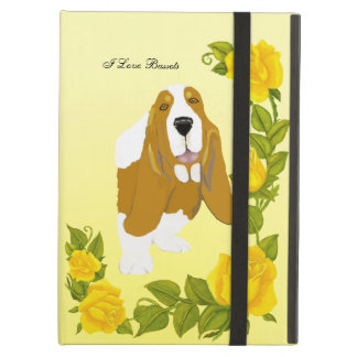 Basset Hound and Yellow Roses Case For iPad Air