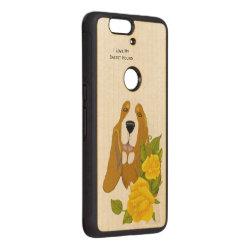 Carved ® Google Nexus 6p Bumper Wood Case with Basset Hound Phone Cases design