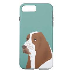 Case-Mate Tough iPhone 7 Plus Case with Basset Hound Phone Cases design
