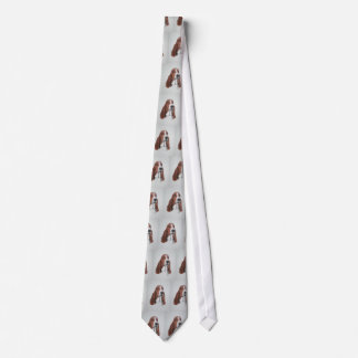 Basset Hound Art on Tie. Neck Tie