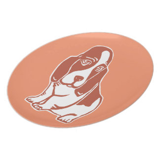Basset Hound Art Plate