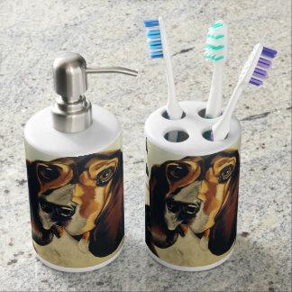 Basset Hound Bath Accessories Bathroom Set