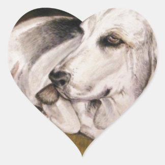 Basset Hound: Baylee Heart Sticker