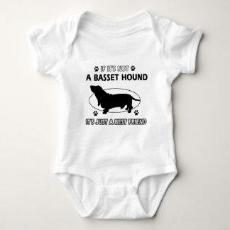 BASSET HOUND best friend designs Baby Bodysuit