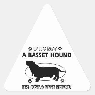 BASSET HOUND best friend designs Triangle Sticker