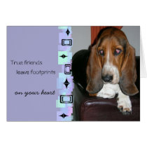Basset Hound Birthday Greeting Card