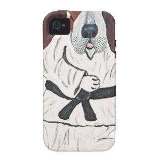Basset Hound Black Belt Expert Case-Mate iPhone 4 Covers