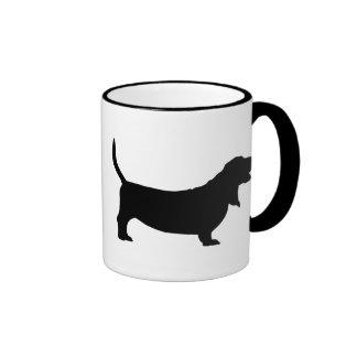 Basset Hound (black) Coffee Mugs
