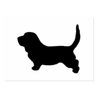 Basset hound black silhouette blank business card