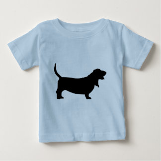 Basset Hound (black) T-shirt