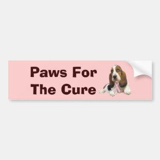 Basset Hound Breast Cancer Bumper Sticker