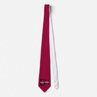 Basset Hound Breed Monogram Design Neck Tie