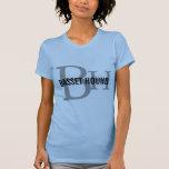 Basset Hound Breed Monogram Design T-Shirt