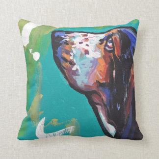 Basset Hound Bright Colorful Pop Dog Art Throw Pillow