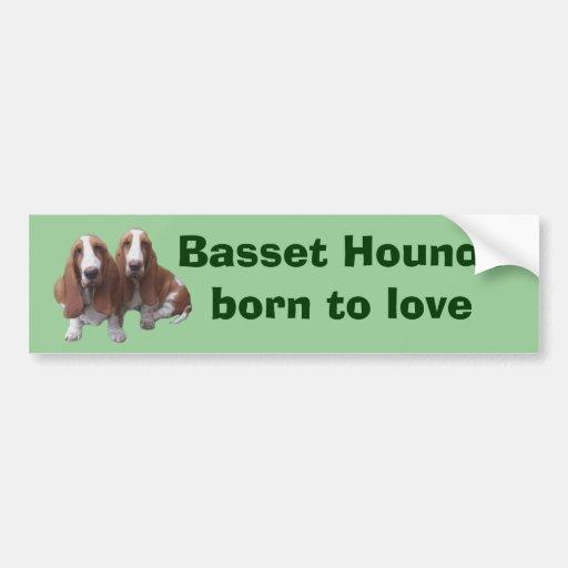 Basset Hound Buddies Bumper Sticker