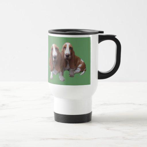 Basset Hound Buddies Travel Mug