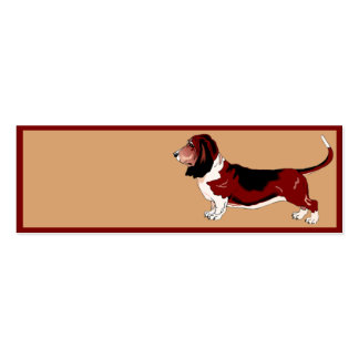 Basset Hound Double-Sided Mini Business Cards (Pack Of 20)