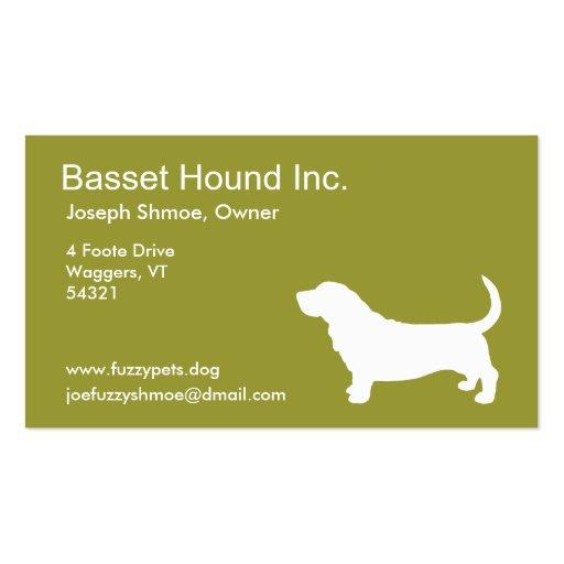 Basset Hound Business Card Templates