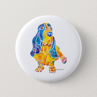 Basset Hound Button